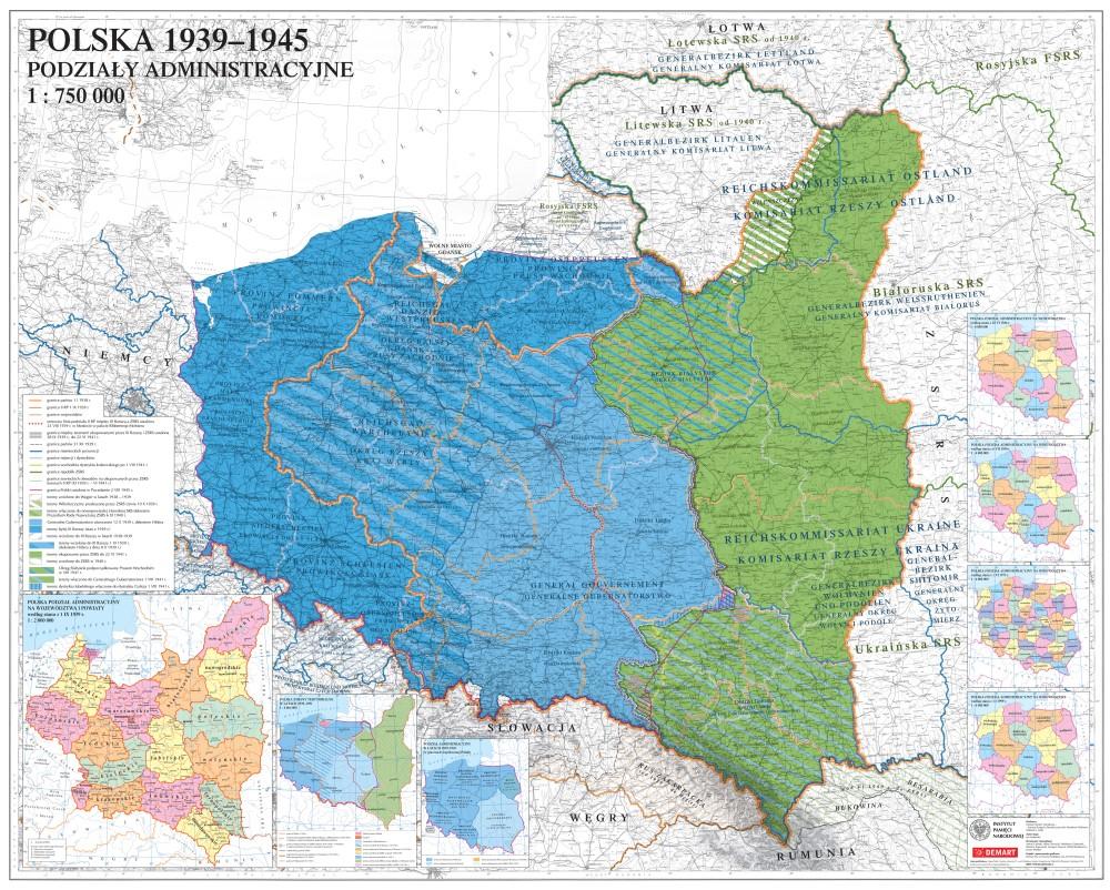 Prezentacja Mapy Polska 1939 1945 Podzialy Administracyjne